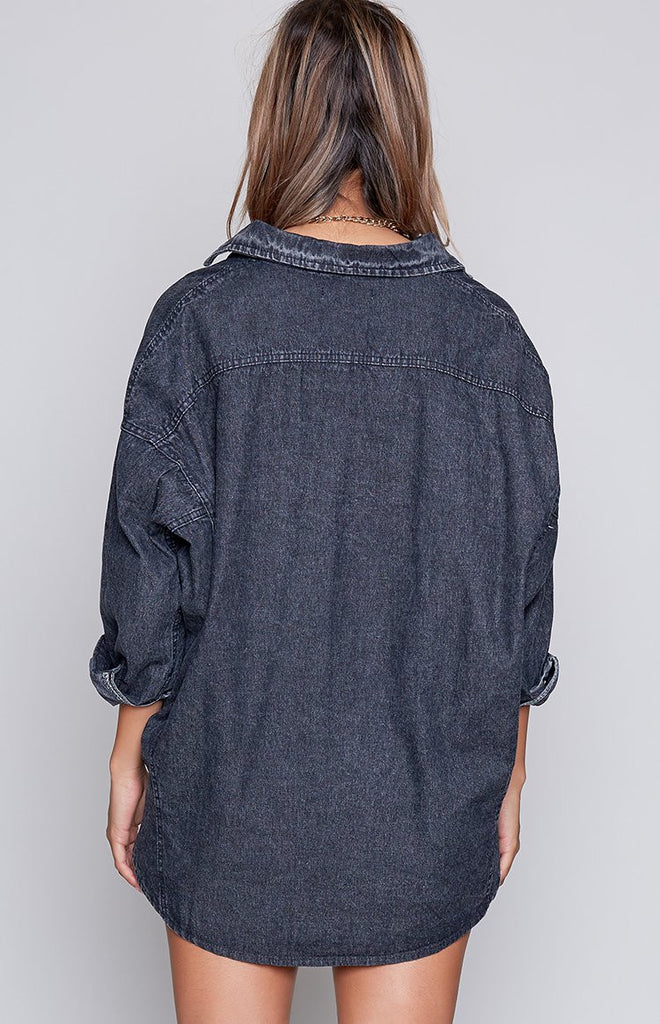 Lillian Denim Shirt Black Acid