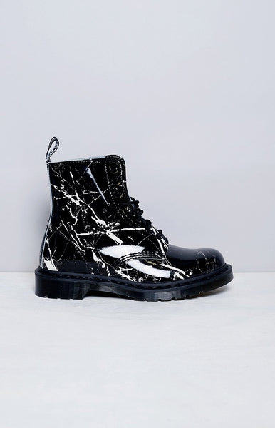 Dr. Martens Pascal 8 Eye Boot Black Marble