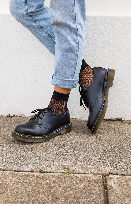 Dr. Martens DMC Black Smooth Leather Shoes