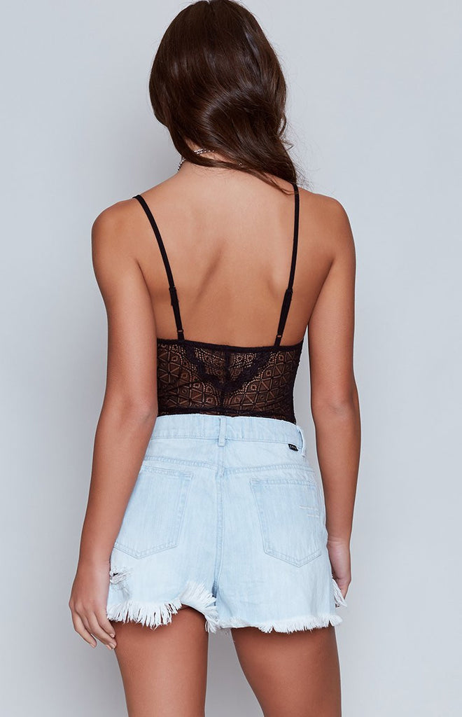 Ava Lace Bodysuit Black