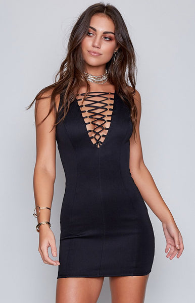 All Tied Up Dress Black