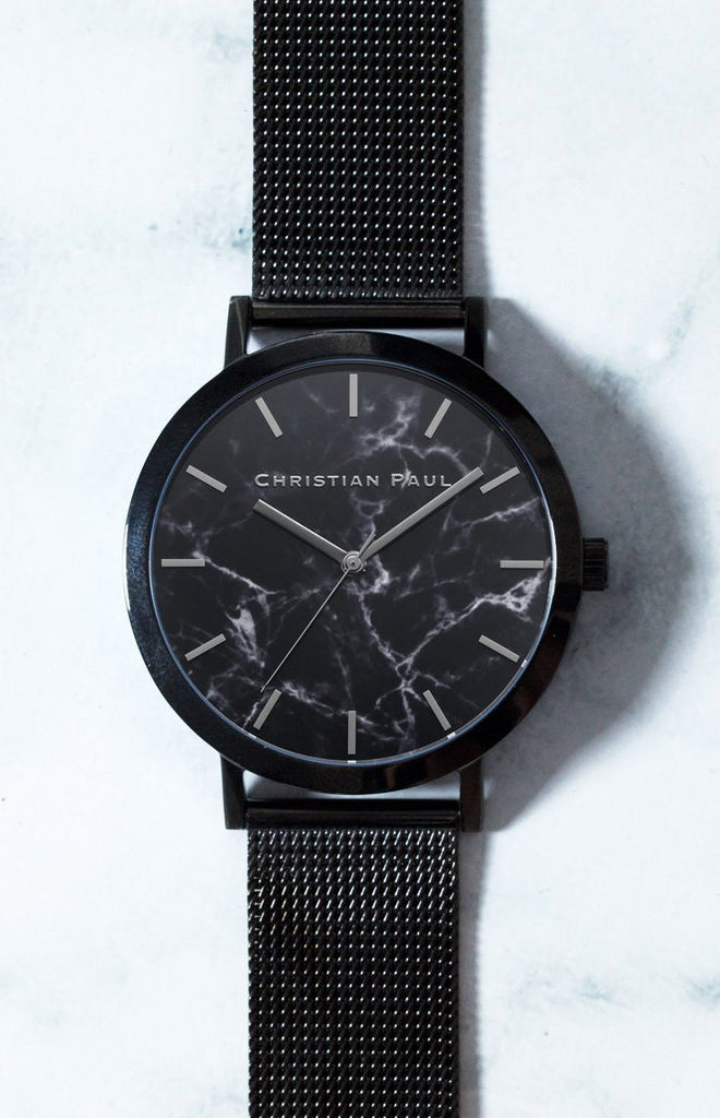 Christian Paul The Strand Marble Mesh 43mm Watch