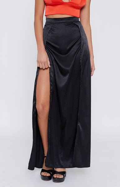 Sequence Maxi Skirt Black