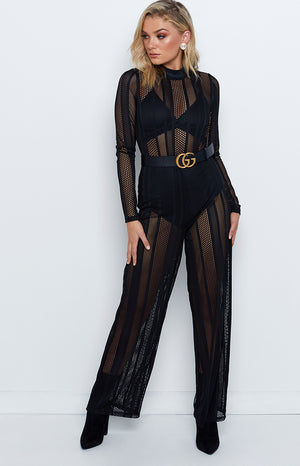 Time For Champagne Jumpsuit Black