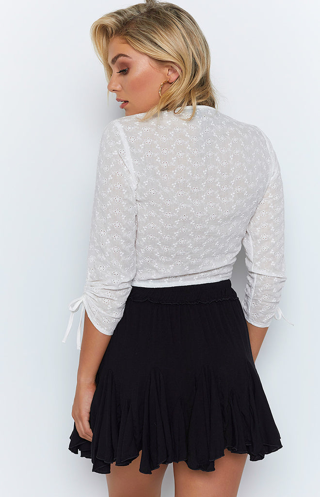 Round Up Skirt Black