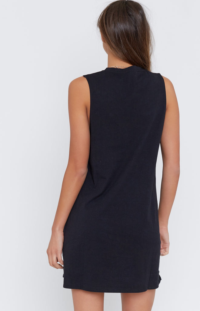 Basic Muscle Tank Dress Black