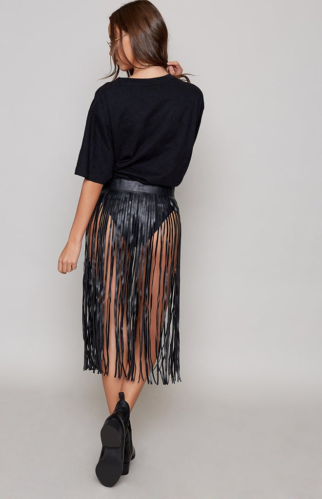 Witch Doctor Fringed Belt Black