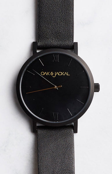 Oak & Jackal All Black Watch