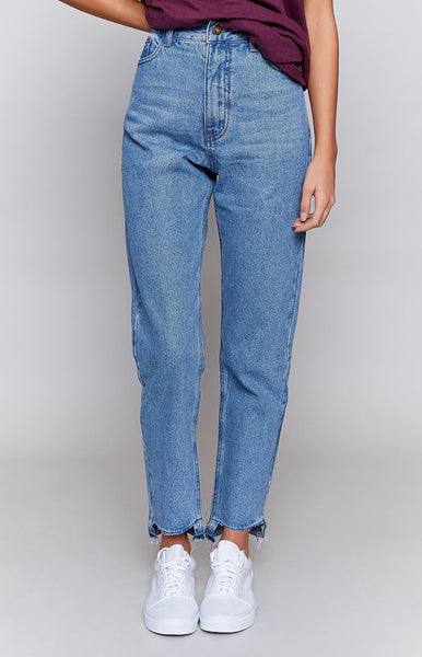 Bad Habit Mom Jean Classic Blue