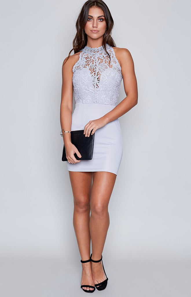 Miranda Lace Dress Grey