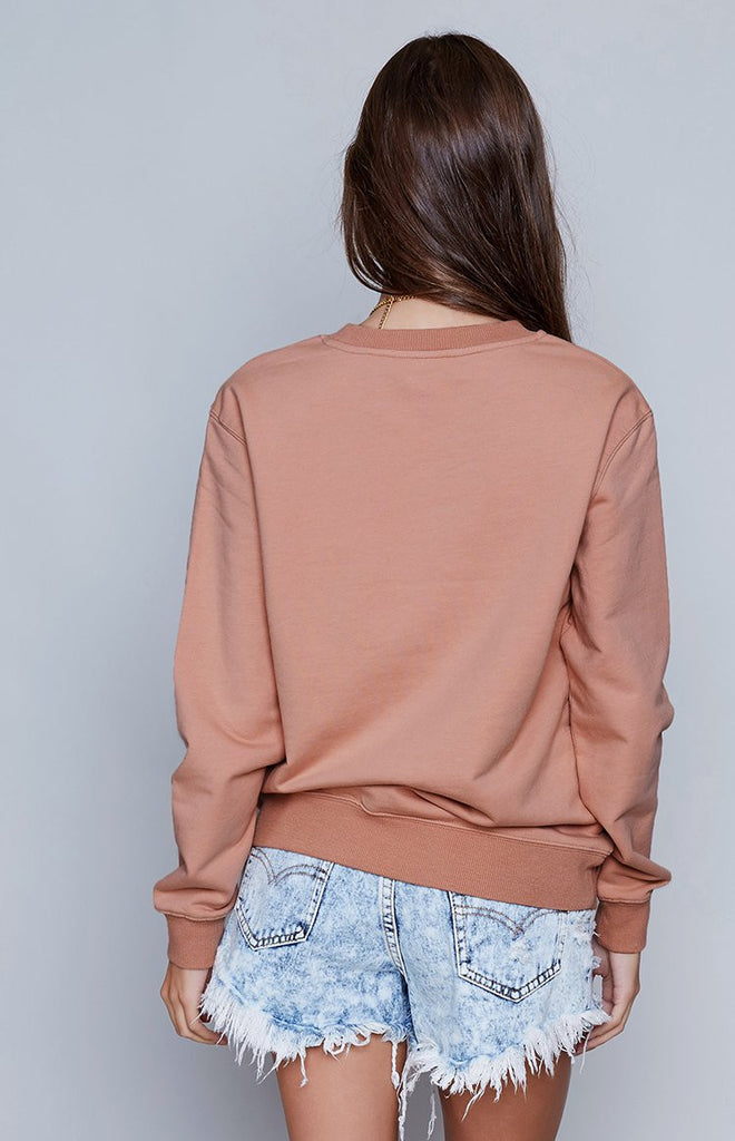 Afends Crew Neck Sweat Apricot