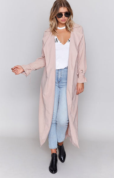 Capital Authority Duster Coat Blush