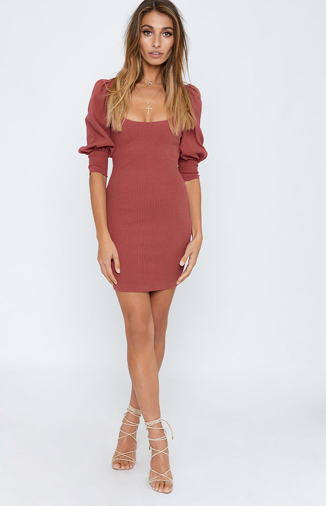 Silent Night Party Dress Rose