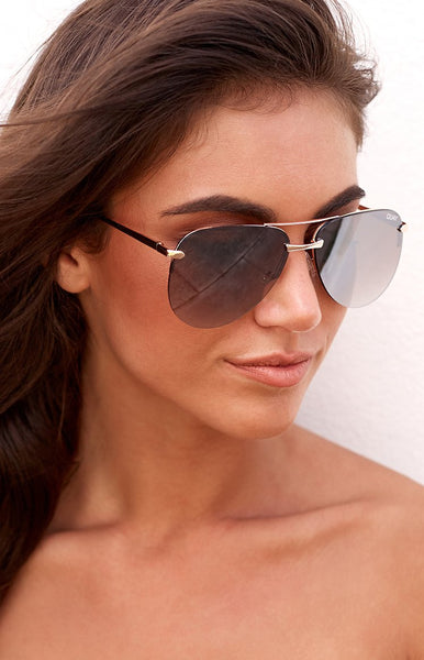 Quay The Playa Sunglasses Gold Brown