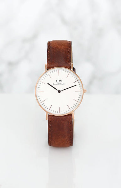 Daniel Wellington Classic St Mawes Watch - Rose