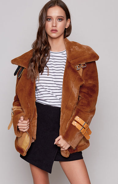 Empire Buckle Coat Camel