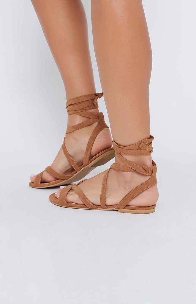 Billini Daska Sandals Tan Suede