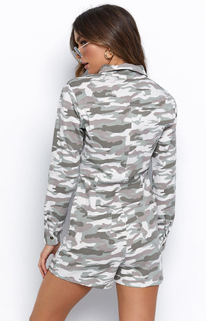 No More Drills Playsuit Camo