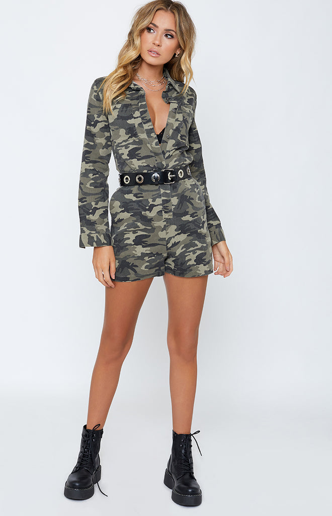 Commander Playsuit Camo