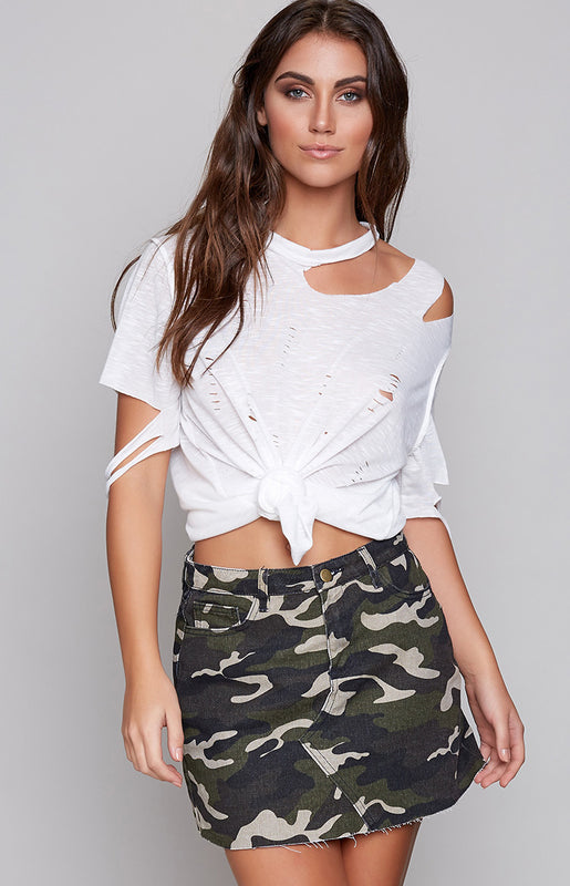 Barely There Mini Skirt Camo