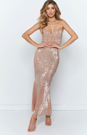 Ruth Maxi Dress Champagne