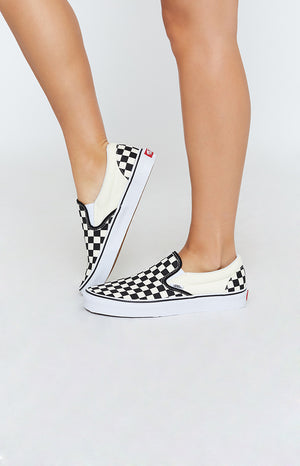 Vans Classic Slip On Sneakers Checkerboard Black & White