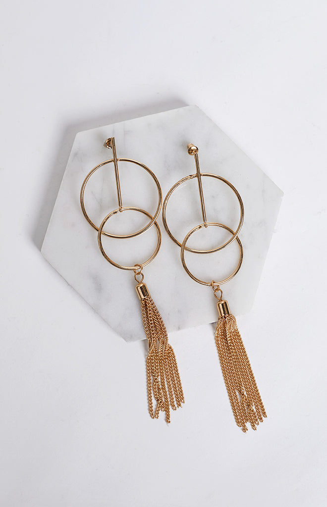 In Good Time Earrings Gold