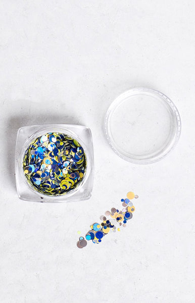 Confetti Team Colours Blue and Yellow Glitter Pot