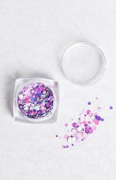 Confetti Purple Party Glitter Pot