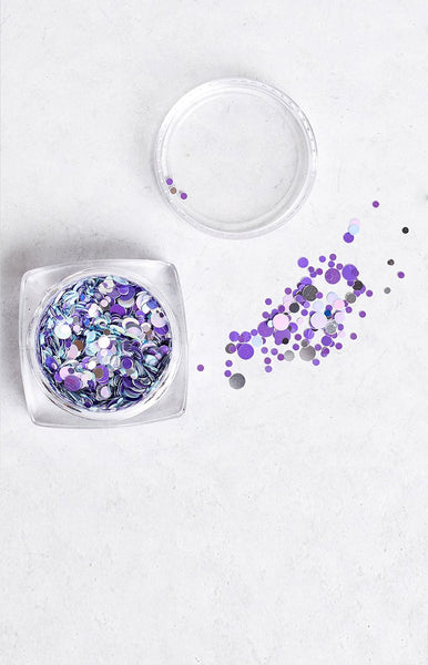 Confetti Iridescent Purple Glitter Pot