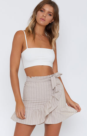 Found Love Skirt Beige