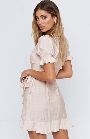 City Lights Dress Beige