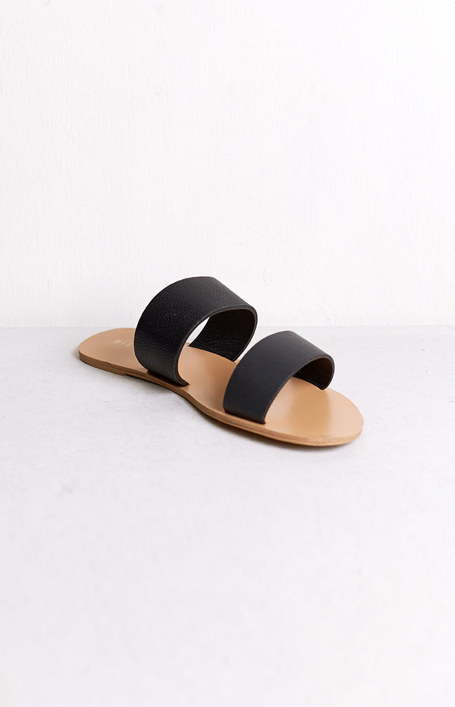Billini Cuban Slides Black & Black Pebble