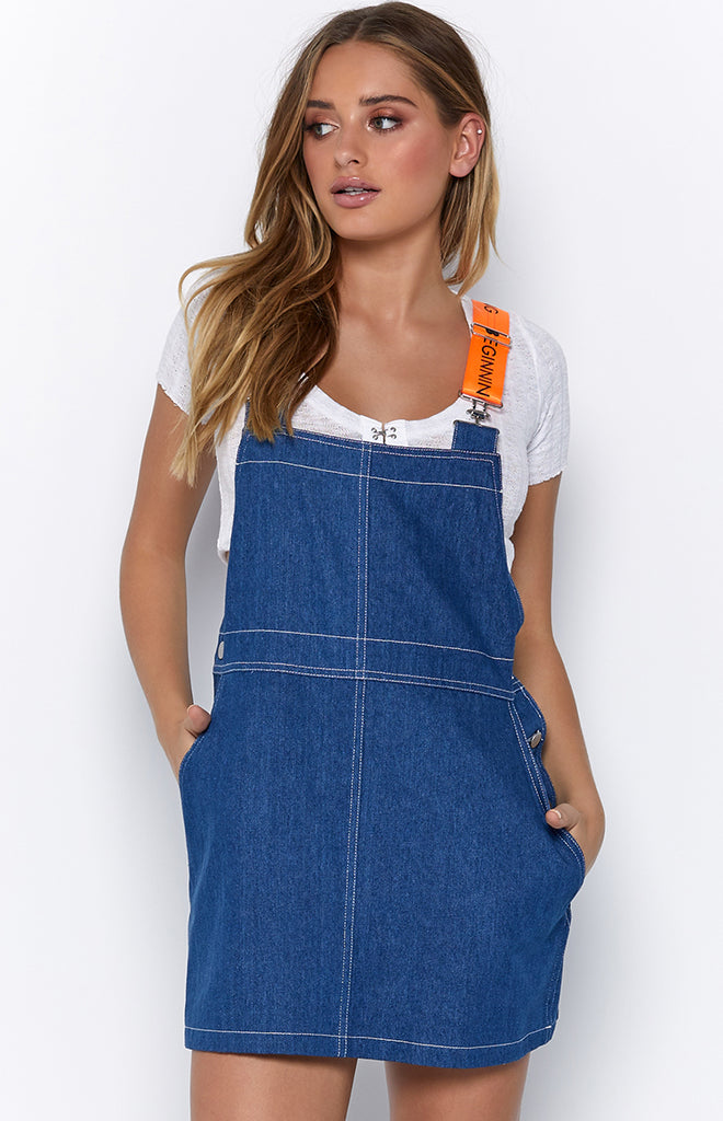 Bronx Overall Dress Denim