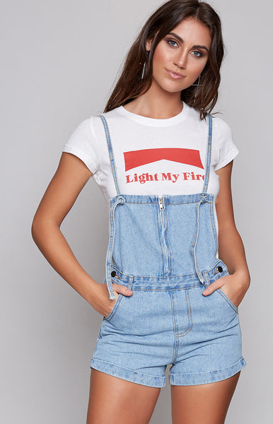 The Simple Life Denim Overalls Blue