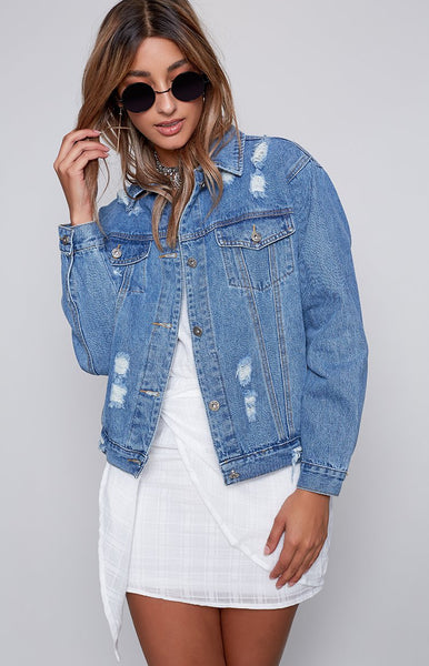 No Limits Denim Jacket Blue