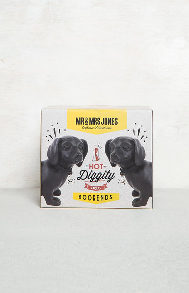 Mr & Mrs Jones Hot Doggity Dog Bookends