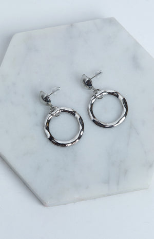 Eclat Bumpy Night Earrings Silver