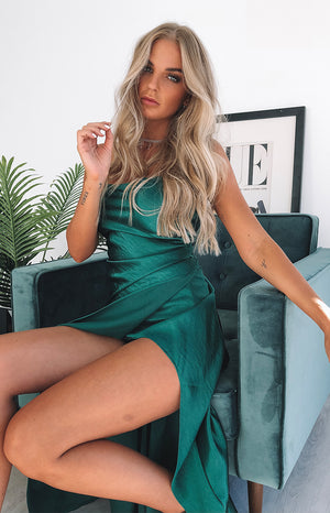 Opulence Maxi Dress Forest Green