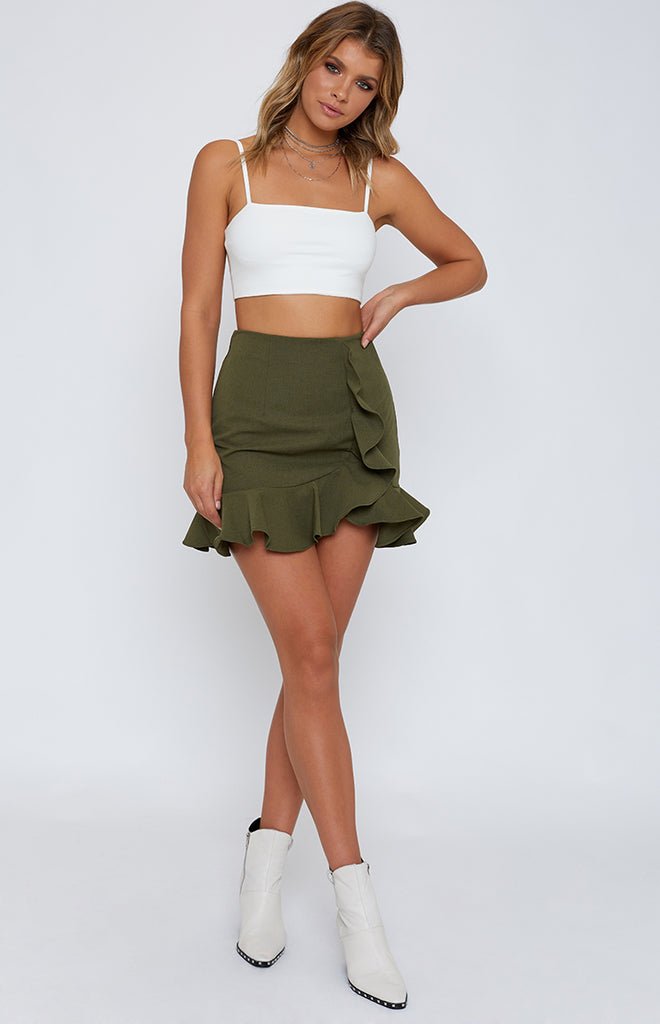 Dance With Me Skirt Khaki