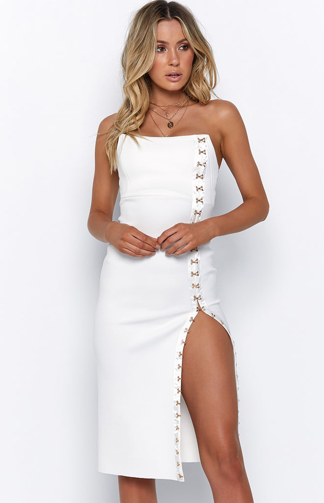 b448b2bb114d Giselle Dress White – Beginning Boutique