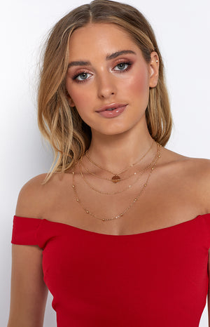 Eclat Allegra Layered Necklace Gold