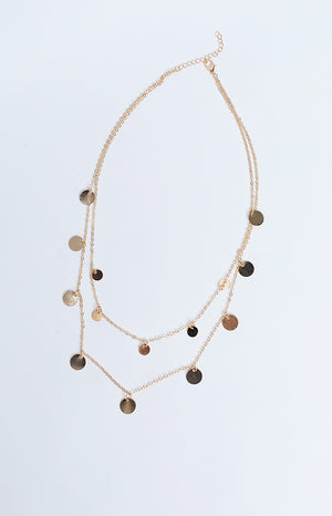 Eclat Gypsy Coin Necklace Gold