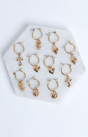 Eclat Just Believe Earrings Gold 5 Pack