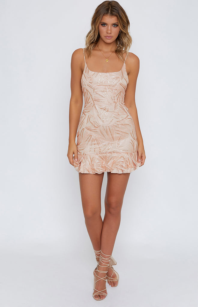 Hattie Dress Champagne Glitter