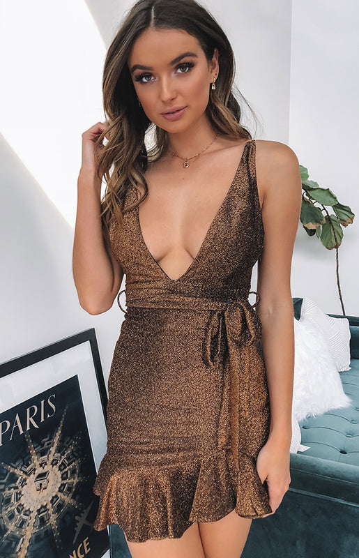 Precious Love Dress Bronze