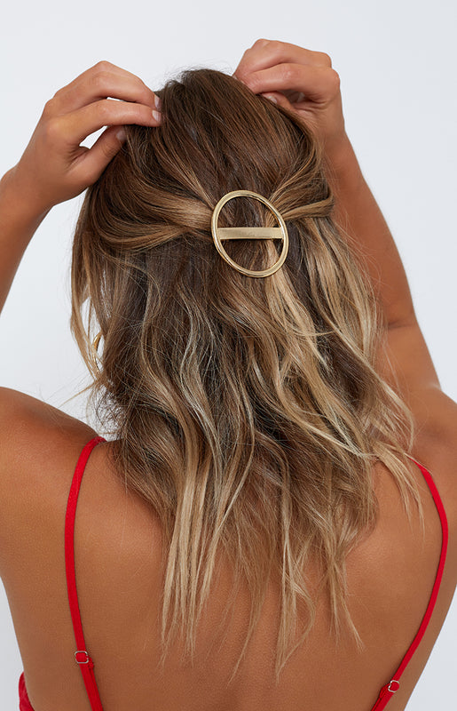 Swept Away Hair Pin Gold