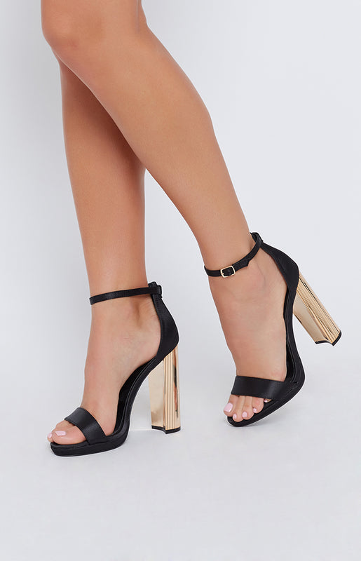 Windsor Smith Remi Heels Black Satin