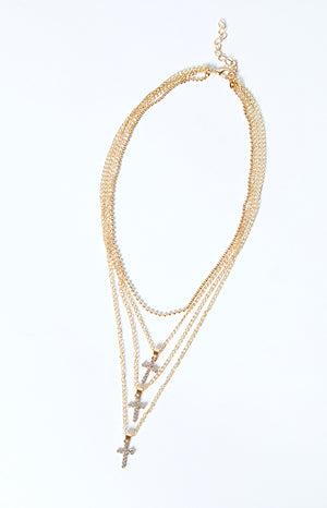 Eclat Bethel Layered Necklace Gold