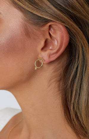 Eclat Going Full Circle Earrings Gold